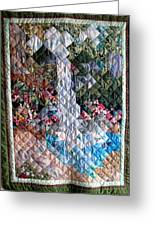 Santa Amelia Waterfall Quilt Greeting Card by Sarah Hornsby