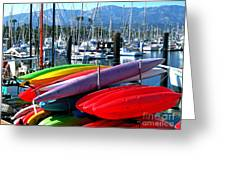 Santa Barbara Harbor Greeting Card