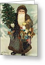 Santa Claus With Toys Greeting Card