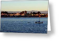 Santa Cruz Boardwalk  Greeting Card by Garnett  Jaeger