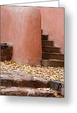Santa Fe Adobe Greeting Card by Denice Breaux