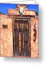 Santa Fe Door Greeting Card