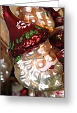 Santa Glass Ornament Greeting Card