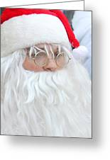 Santa In Bethlehem March For Peace And Unity Greeting Card