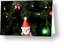Santa Is Watching Greeting Card