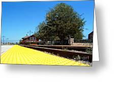 Santa Paula Train Station Greeting Card