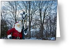 Santa's Checking His List Greeting Card