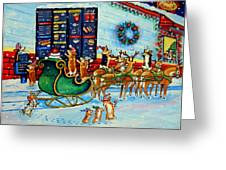 Santa's Pit Stop On  December 24th Greeting Card