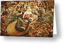 Santa's Vintage Memories Greeting Card