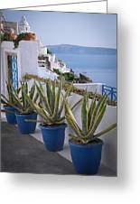 Santorini Entrance Greeting Card