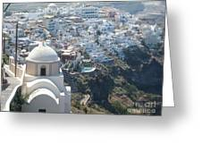 Santorini Greece Greeting Card