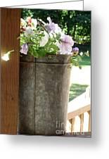 Sap Bucket Planter Greeting Card