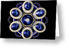 Sapphire And Gold Brooch Greeting Card
