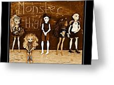 Sarah's Monster High Collection Sepia Greeting Card