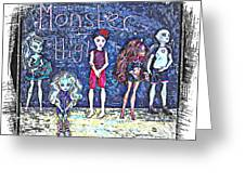 Sarah's Monster High Collection Sketch Greeting Card