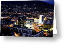 Sarajevo By Night Greeting Card