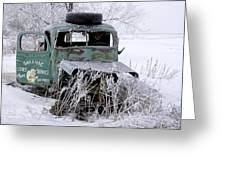 Saranac Cities Service Truck Greeting Card