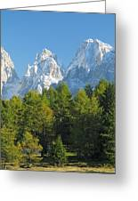 Sasso Lungo Group In The Dolomites Of Italy Greeting Card
