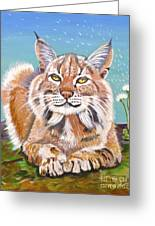 Sassy Lynx Greeting Card