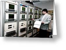 Satellite Control Room Greeting Card