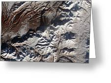 Satellite Image Of Russias Kizimen Greeting Card