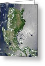 Satellite Image Of The Northern Greeting Card