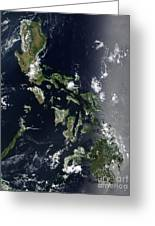 Satellite Image Of The Philippines Greeting Card