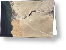 Satellite Image Of The Swakop River Greeting Card