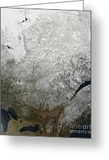 Satellite View Of Eastern Canada Greeting Card
