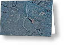 Satellite View Of Newark, New Jersey Greeting Card
