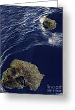 Satellite View Of The Prince Edward Greeting Card