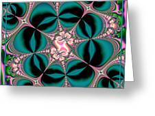 Satin Flowers And Butterflies Fractal 122 Greeting Card