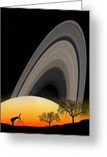 Saturn View 2 Greeting Card