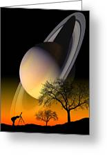 Saturn Viewing Greeting Card