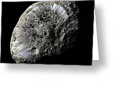 Saturns Moon Hyperion Greeting Card