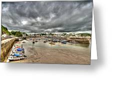 Saundersfoot Harbour Greeting Card