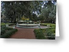 Savannah Square And Fountain Greeting Card