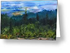 Sawbill Overlook Sunset Greeting Card