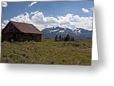 Sawtooth Cabin  Greeting Card