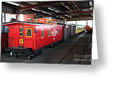 Scale Caboose - Traintown Sonoma California - 5d19240 Greeting Card