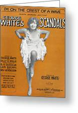 Scandals Songsheet, 1928 Greeting Card