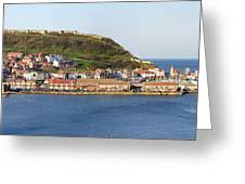 Scarborough Panorama Greeting Card by Jane Rix