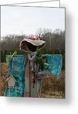 Scarecrow Garden Art Greeting Card