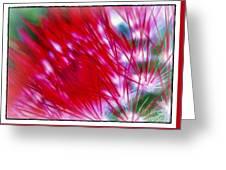 Scarlet Sabers Greeting Card