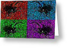 Scary Spider Serigraph Greeting Card by Al Powell Photography USA