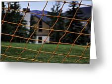 Scene Through A Volley Ball Court 2 Greeting Card