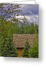Scene Through The Trees - Vail Greeting Card