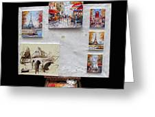 Scenes Of Paris For Sale Greeting Card