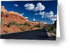 Scenic Drive Through Capitol Reef National Park Greeting Card