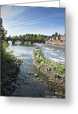 Scenic Landscape With Old Dee Bridge Greeting Card